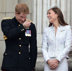 Kate and Harry laughing it up
