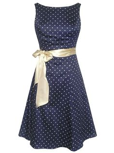 If you're tastes run more simply, try something like this cute polka dotted tea dress for prom.