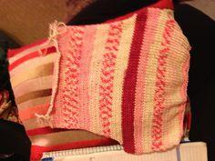 Back to a 'Polly' wraparound summer cardigan. 100% cotton yarn