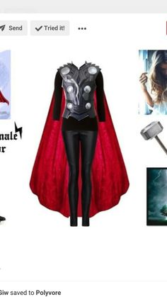 A fashion look from October 2015 featuring mango pants, zipper boots and colored trees. Browse and shop related looks. Female Marvel Cosplay, Female Thor Costume, Loki Costume, Thor Cosplay, Marvel Costumes, Cosplay Dress, Cosplay Costumes, Family Halloween Costumes, Halloween Outfits