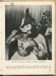 Vuurvreter bij Keita Fodeba's negerballet. From Nationale balletten