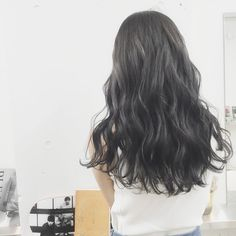 Gray ash * Please leave the color * … - All For Hair Color Trending Permed Hairstyles, Modern Hairstyles, Beautiful Hairstyles, Types Of Perms, Digital Perm, Air Dry Hair, Japanese Hairstyle, Textured Hair, Pink Hair