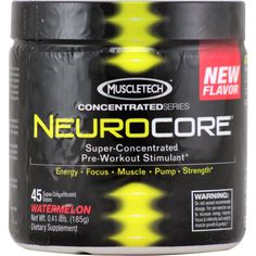 MuscleTech Neurocore Watermelon Next Generation 45 svg | Regular Price: $45.99, Sale Price: $31.99 | OvernightSupplements.com | #onSale #supplements #specials #MuscleTech #PreWorkout  | Neurocore Super ConcentratedPre Workout StimulantEnergy Focus Muscle Pump StrengthNew Potent Formula New Great Taste Introducing the 2nd generation NeuroCore super concentrated formula with new powerful ingredients and a new improved great taste NeuroCore is a powerful pre workout stimulant de