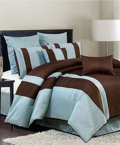 Take A Look At This Blue U0026 Brown Bali Queen Comforter Set On Zulily Today!