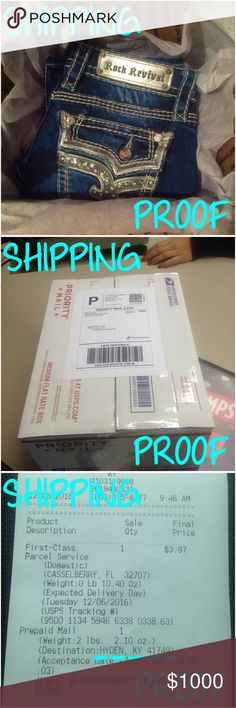 📦🚐📬 PROOF of shipping Presleigh Cates 📦🚐📬 📦 packaged up ✔️ taken to post office  🚐 scanned and en route  📬 expected delivery on 12•6•16 💎 LOVE the trade haha 🎀 leave positive trade feedback   💙 from one KY gal to another 💙 Rock Revival Other