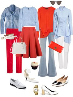 This ensemble was inspired by my own wardrobe pieces and my love for the combination of tomato...