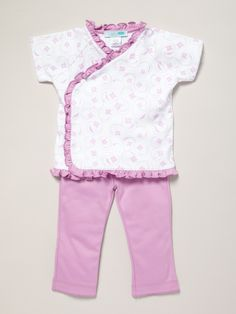 Ivy Kimono Ruffle Set by Little Gilt at Gilt