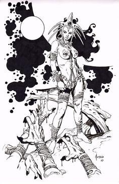 sorcerersskull: Dejah Thoris by Joe Jusko Comic Book Artists, Comic Book Characters, Comic Books Art, Comic Art, Fantasy Sword, Fantasy Art, John Carter Of Mars, Jordi Bernet, Pulp
