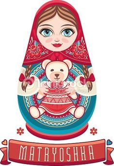 Vector Art : Matryoshka. Russian folk doll.