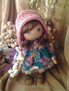 Купить Дефчуля - мятный, кукла ручной работы, кукла в подарок, текстильная кукла, подарок