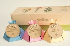 Botanique is a fictitious brand of premium flower bulbs and seeds. This special anniversary edition packaging contains a collection of lilies with each bulb individually wrapped in a bulb-like box that resembles a blossoming flower when opened. Botanique …