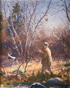 Grouse Hunting, Whitetail Deer Hunting, Quail Hunting, Hunting Art, Hunting Dogs, Hunting Birds, Wildlife Paintings, Wildlife Art, Hunting Pictures