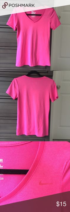 Worn Once-  Nike Tee - Athletic Cut - Dri Fit This tee is very soft and lightweight, it's just a little too small for me. Only worn once! Nike Tops Tees - Short Sleeve