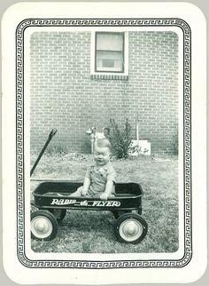 Child in a Radio Flyer wagon Old Photos, Vintage Photos, Radio Flyer Wagons, Photo Boards, Vintage Colors, Vintage Children, Old Pictures, Vintage Kids, Antique Photos
