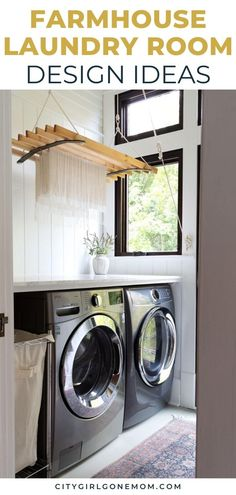 From modern takes to antique stunners, these laundry rooms are the perfect inspiration to take your farmhouse laundry room design to the next level. Laundry Room Remodel, Laundry Room Cabinets, Storage Cabinets, Laundry Nook, White Laundry Rooms, Farmhouse Laundry Room, Laundry Room Inspiration, Modern Farmhouse Decor, Rustic Farmhouse