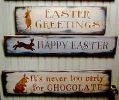Easter sign--love the bunny sillouette
