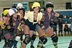 The face of determination! Bettie the Kid (jammer) of Monterey Bay Derby Dames. All of their teams are named after Steinbeck novels. AMAZING. Photo by Mark Nockleby.