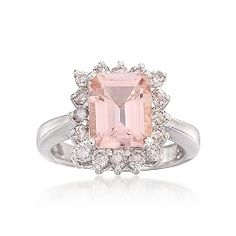 Trendy Diamond Rings : Morganite