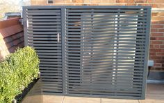 Contemporary Air Conditioning Covers - Essex UK, The Garden Trellis Company House Gate Design, Door Gate Design, Garden Privacy, Garden Trellis, Garden Gates And Fencing, Fences, Air Conditioner Screen, Bin Shed, Ac Cover