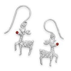 Red-Nosed Reindeer Earrings