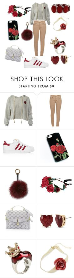 """""""🌹 Outfit"""" by kiyah98077 on Polyvore featuring Sans Souci, Barbour, adidas, Surell, Betsey Johnson, Disney, Erica Lyons and Mixit"""