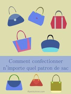 Comment dessiner un patron de sac Diy Sewing Projects, Sewing Projects For Beginners, Sewing Hacks, Sewing Tutorials, Sewing Online, Pocket Pattern, Couture Sewing, Fabric Bags, Couture Bags
