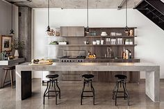 Its all or nothing here with this tasteful Stainless Steel kitchen.
