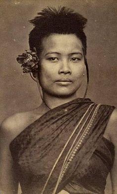 """""""A socially high ranking Siamese woman, circa 1896."""""""