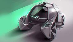 Mercedes-Benz, tiny car on Behance // Marco Aurelio Silva