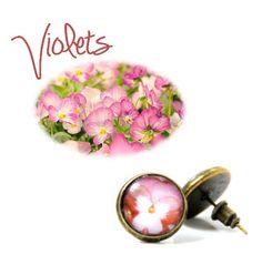 Cute Violet stud earrings  https://www.etsy.com/listing/107412293/violet-studs-handmade-post-earrings