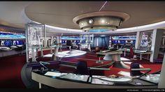 Star Trek Bridge — polycount Star Trek Bridge, Trek Deck, Spock And Kirk, New Star Trek, Environment Concept, Concept Art, University, Stars, Futurism