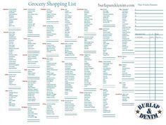 Walmart Grocery List Printable WOWcom Image Results