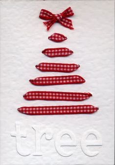 = Christmas tree card | ribbon