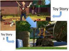 After realizing toys are sentient in Toy Story, Sid grows up to be a garbageman so he can save toys from their untimely demise. | The 14 Most Indisputable Fan Theories Of 2014