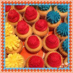 Cupcakes vibrantes!