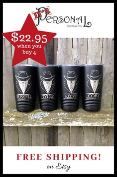 Check out these great western tuxedo design tumblers for the bachelor party! The unique twist on a c Groomsmen Gifts Unique, Bride And Groom Gifts, Father Of The Bride, Groomsman Gifts, Wedding Cups, Wedding Party Favors, Centerpiece Wedding, Wedding Crafts, Diy Wedding