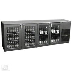 "Glastender ND92BR-R1-GSH(LRLR) 92"" Glass Door Two Zone Back Bar Cooler by Glastender. $4664.99. Serving red wine just below room temperature and beer ice cold is a great way to create a following of regulars at the bar of any commercial foodservice operation. The 92"" Glass Door Two Zone Back Bar Cooler (ND92BR-R1-GSH(LRLR)) from Glastender is designed to store both beer and red wine behind glass doors so guests can easily view the available selection. The beer c..."