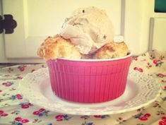 """Cherry-Berry Cobblerettes with Cinnamon Ice Cream ~ A Guest Post By Holly of """"Gluten Free Goes Vintage"""""""