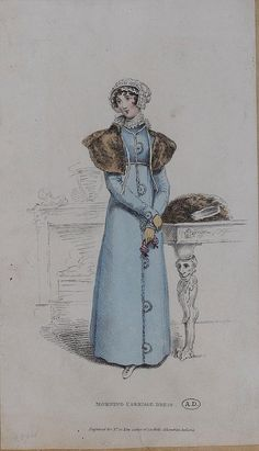 1814 (?) Morning Carriage Dress  (Look at the table leg!)