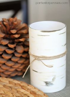 DIY Birchwood Vases