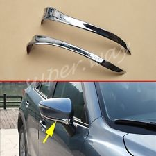Side Mirror Trim For Mazda CX3 CX5 2016 2017 Chrome Rearview Garnish Accessories