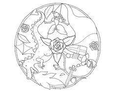 Mandala per St Jordi Mandala Coloring, Colouring Pages, Coloring Books, Dragon Table, St Georges Day, Dragon Party, Doodle Patterns, Canvas Designs, Saint George