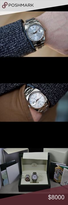96325e42c5f3 Pre-Owned Men s Datejust Rolex Men s Datejust Rolex. 36 mm stainless steal.  Movement