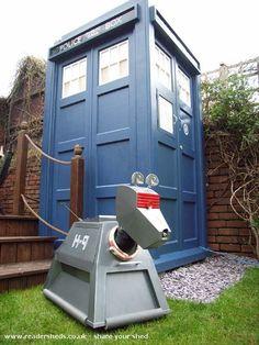I NEED a TARDIS shed.  Seriously.