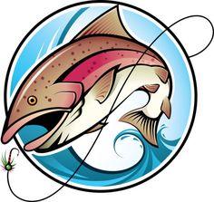cartoon of fishing design vector set