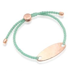 Rose Gold Vermeil Bali Friendship Bracelet - Mint