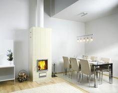 Hiekka Fireplace I Tulikivi Very stylish.