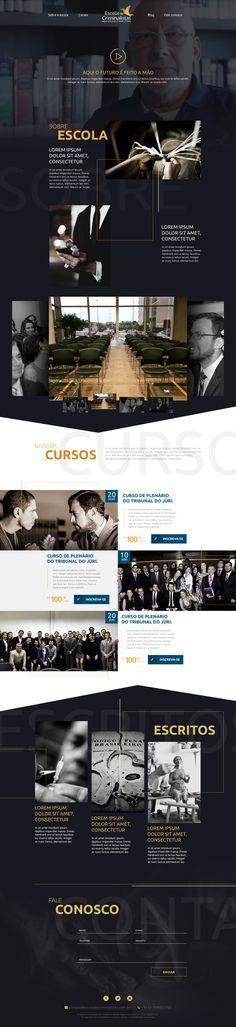 Projeto Gráfico de Landing Page para Escola de Criminalistas. Agência: Fator Digital