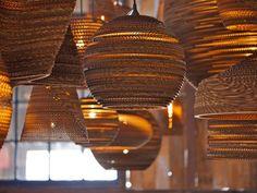 Luminárias de papelão reciclado – KzaBlog   Casa e Decoração