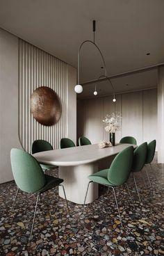 Modern Villa interior design // cgi visualization Office Interior Design, Interior Walls, Casa Milano, Dining Area Design, 3d Models, New Wall, Interior Architecture, Furniture Design, Room Decor